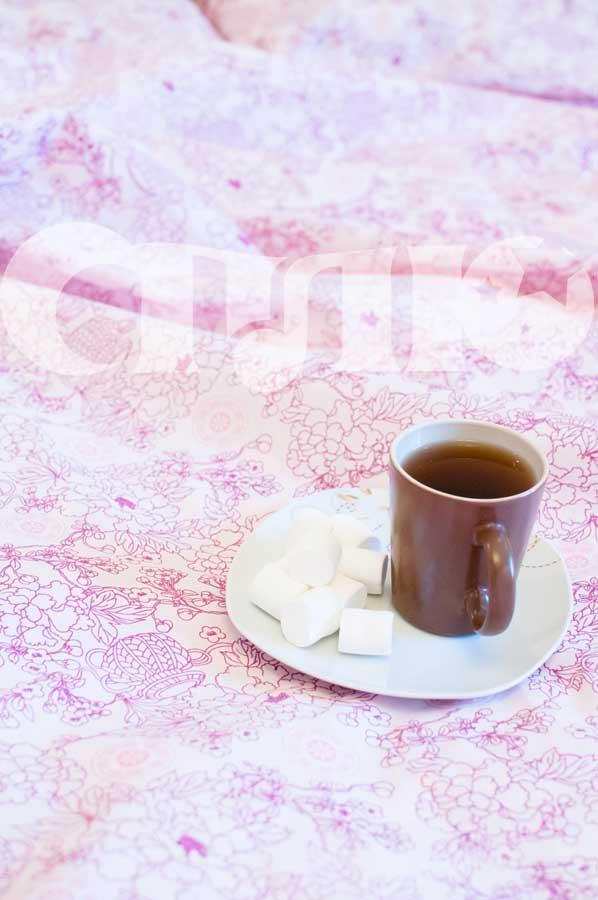Купить Постельное белье с розовым узором Сплю изображение 4