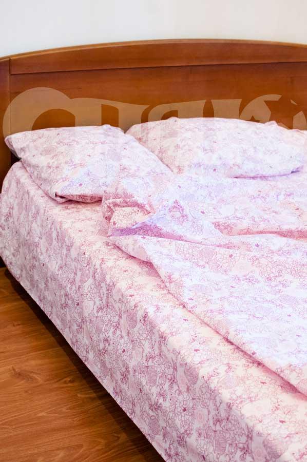 Купить Постельное белье с розовым узором Сплю изображение 2