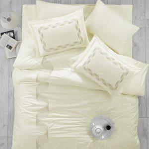 Купить REMEMBER EKRU Cotton Box постельное белье с вышивкой