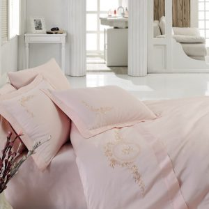 Купить FEELING Pembe Cotton Box постельное белье с вышивкой