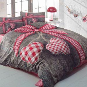 Купить LOVEBOX KIRMIZI 3D Floral Cotton Box постельное белье