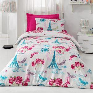 Купить PINK ROSE PEMBE Cotton Box подростковое постельное белье