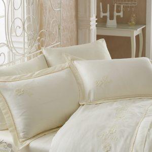 Купить Soft Krem Cotton Box постельное белье с вышивкой