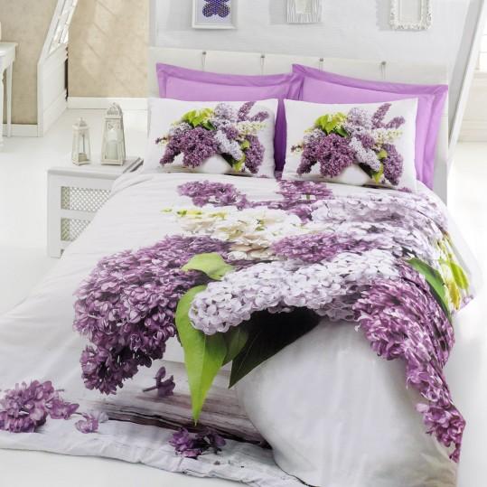 Купить Vilma Lila Floral Cotton Box 3D постельное белье