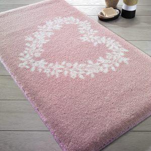 Купить Spring Heart Pink Confetti коврик для ванной
