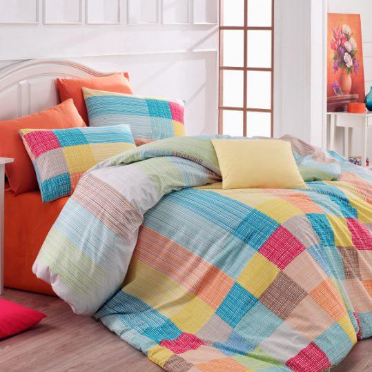 Купить Karo v3 Orange Majoli Bahar tekstil постельное белье