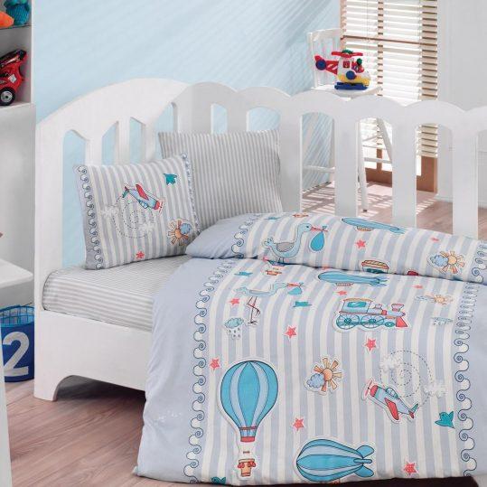 Купить Gezgin Mavi Cotton Box постельное белье для новорожденных