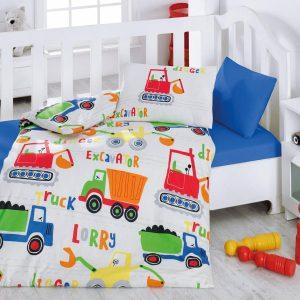 Купить Santiye Mavi Cotton Box постельное белье для новорожденных