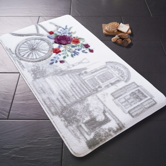 Купить Rose Basket Gri Confetti коврик для ванной