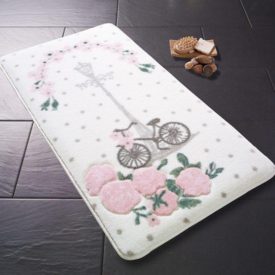 Купить Vintage Bike Pembe Confetti коврик для ванной