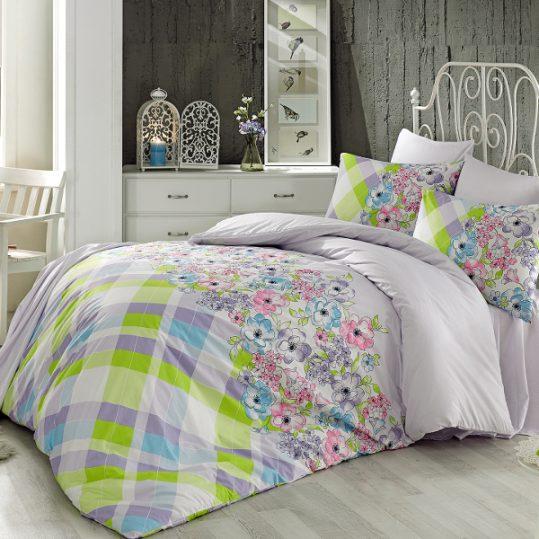 Купить Flory v1 Lila Majoli Bahar Tekstil постельное белье