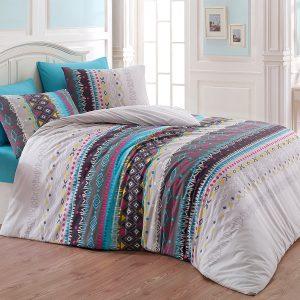 Купить Melanie v3 Turkuaz Majoli Bahar Tekstil постельное белье