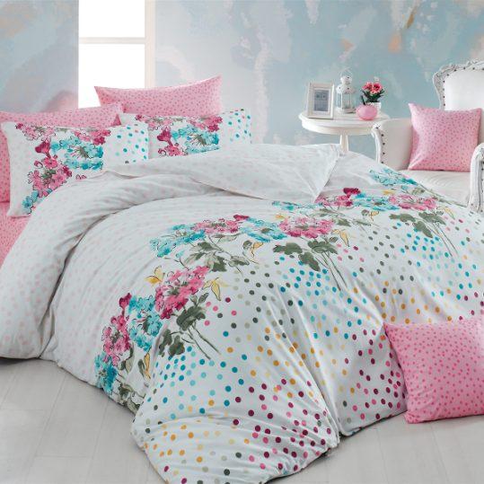 Купить Sara v1 Pembe Majoli Bahar Tekstil постельное белье