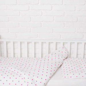 Купить Розовый звездопад Elfdreams постельное белье для новорожденных