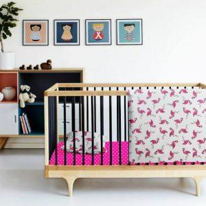 Купить Фламинго малина Cosas постельное белье детское