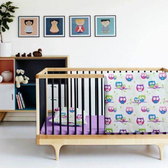 Купить Сова фиолетовый Cosas постельное белье детское