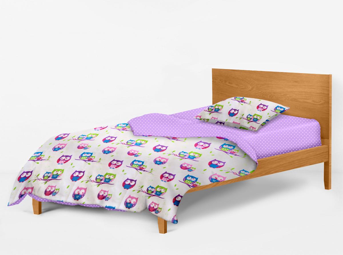 Купить Сова фиолетовый Cosas постельное белье детское изображение 4