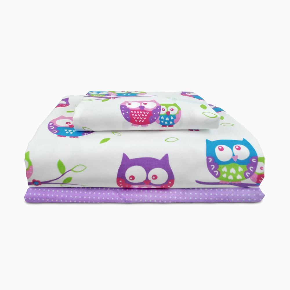 Купить Сова фиолетовый Cosas постельное белье детское изображение 3