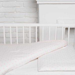 Купить Персиковые горошки Elfdreams постельное белье для новорожденных