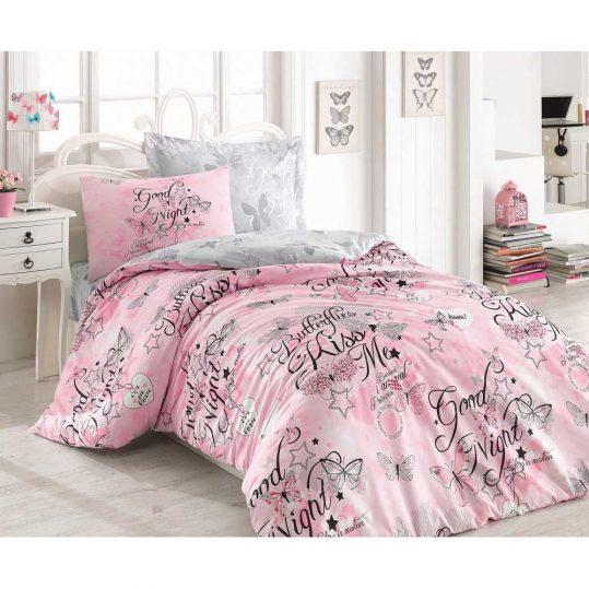 Купить Feeling Pembe Cotton Box подростковое постельное белье