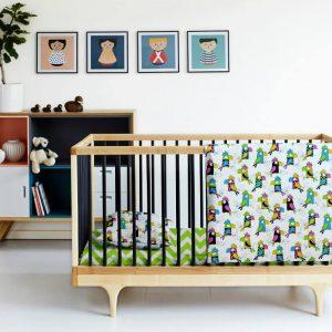 Купить Попугай зеленый зигзаг Cosas постельное белье детское