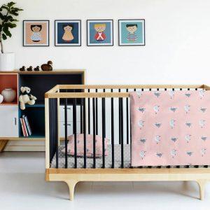 Купить Птички Серые Cosas постельное белье детское