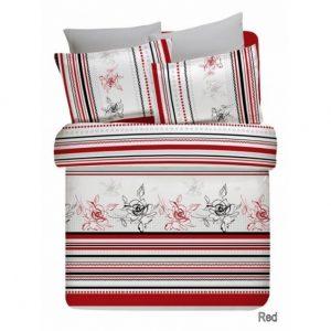 Купить Line Flower красный Altinbasak постельное белье