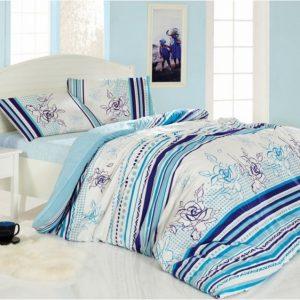 Купить Line Flower голубой Altinbasak постельное белье