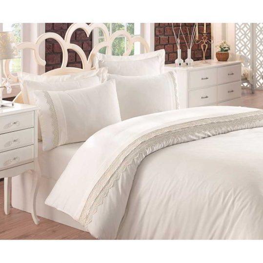 Купить LINETTA EKRU Cotton Box постельное белье с вышивкой