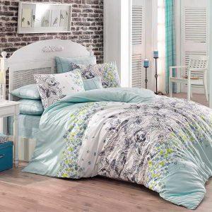 Купить Mona v2 Yesil Majoli Bahar tekstil постельное белье