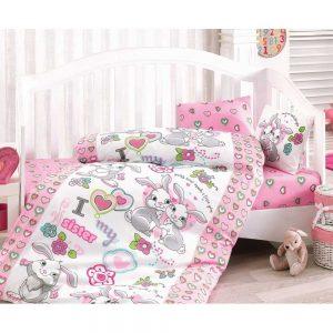 Купить Tavsan Kardes Pembe Cotton Box постельное белье
