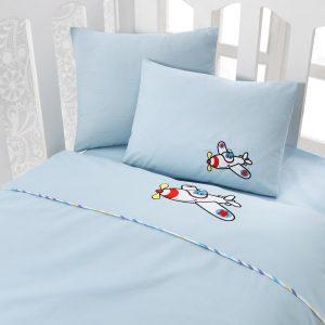 Купить Ucak Mavi Cotton Box постельное белье с вышивкой для новорожденных