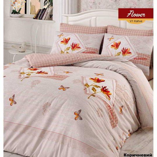 Купить Flower коричневый Arya постельное белье