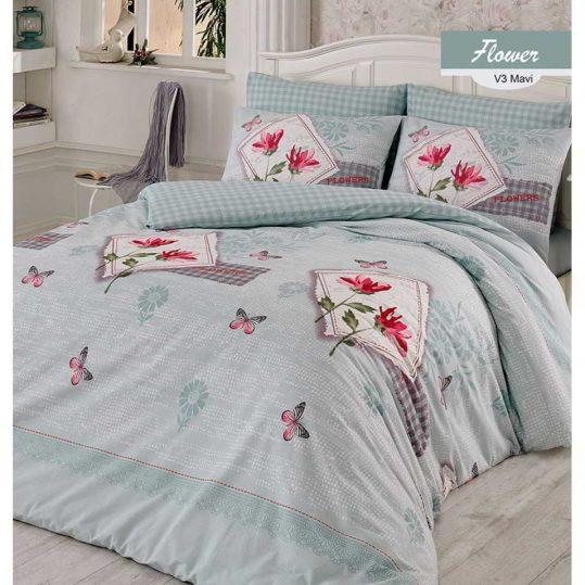Купить Flower голубой Arya постельное белье