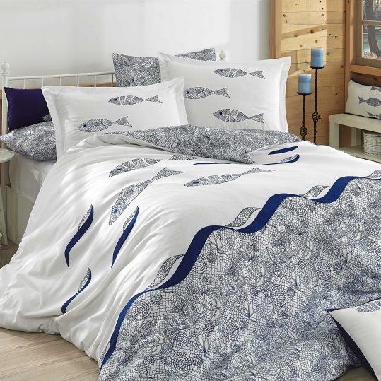 Купить Blues голубой Hobby постельное белье