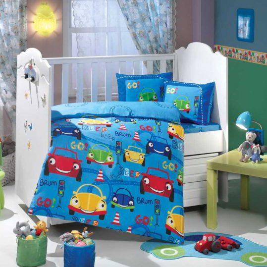 Купить Cars голубой Sateen Hobby постельное белье