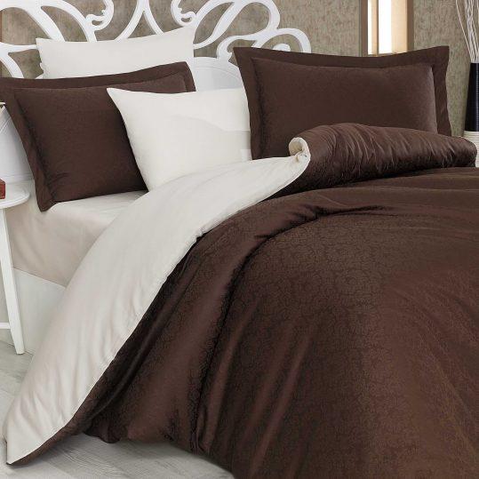 Купить Damask коричневый/кремовый Exclusive Sateen Diamond Hobby постельное белье
