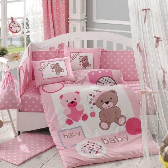 Купить Ponpon розовый Sateen Hobby постельное белье
