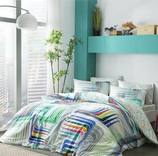 Купить Illusion V01 Mavi TAC постельное белье