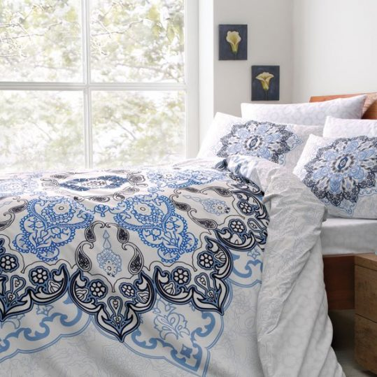 Купить Madelina V01 Mavi TAC постельное белье