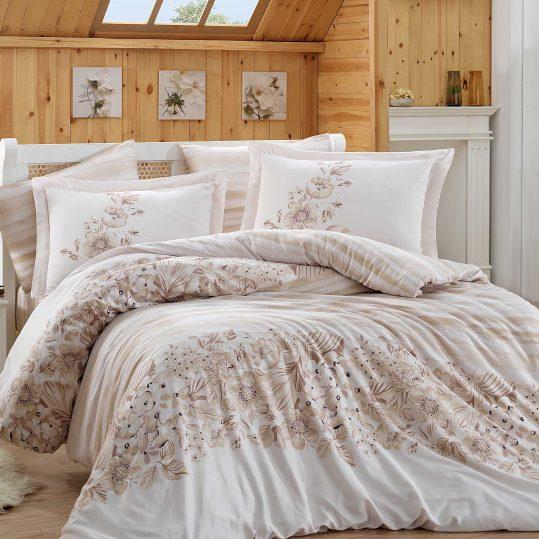 Купить Serena бежевый Exclusive Sateen Hobby постельное белье