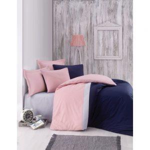 Купить Lacivert Plain Line Cotton Box постельное белье