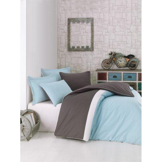 Купить Mint Plain Line Cotton Box постельное белье