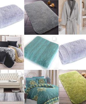 серо-зеленый текстильный набор